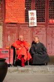 Monaco buddista anziano fotografia stock libera da diritti