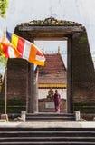 Monaco buddista e Budda di Lankan Fotografie Stock Libere da Diritti