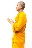 Monaco buddista, elasticità del monaco buddista un sermone a peop Fotografie Stock Libere da Diritti
