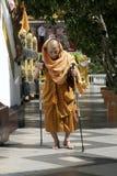 Monaco buddista tailandese anziano Fotografia Stock Libera da Diritti
