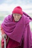 Monaco buddista tibetano anziano nel monastero Tiksey ladakh L'India Immagini Stock Libere da Diritti
