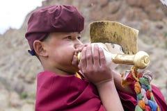 Monaco buddista tibetano durante il festival di Hemis a Ladakh, India del nord Immagini Stock Libere da Diritti