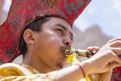 Monaco buddista tibetano durante il festival di Hemis a Ladakh, India del nord Fotografia Stock Libera da Diritti