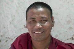 Monaco buddista tibetano nel monastero di Tiksey in Ladakh L'India Fine in su Immagini Stock Libere da Diritti