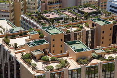 Monaco building roofs Stock Images