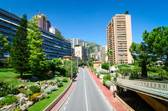 Monaco buildings and road Stock Image