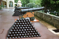 Monaco - Cannon Royalty Free Stock Photography