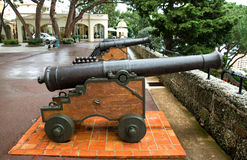 Monaco - Cannon Stock Photo