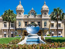 Monaco Casino Mirror Dish. In front of the Monte Carlo Casino, Monaco royalty free stock photo