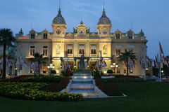Monaco Casino by Night Royalty Free Stock Images