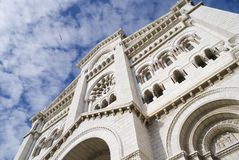 Monaco Cathedral. Saint Nicholas Cathedral in Monaco Royalty Free Stock Images