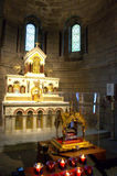 Monaco cathedral altar Royalty Free Stock Photo