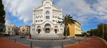 Monaco Cathedral Stock Photography