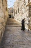 Monaco che cammina giù la via Fotografie Stock