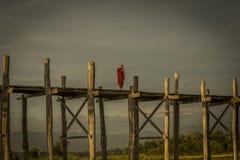 Monaco che considera ponte di legno Fotografia Stock Libera da Diritti