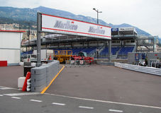 Monaco Circuit - Paddock Entrance Royalty Free Stock Images