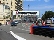 Monaco Circuit - Virage Sainte Devote. Monaco, officially the Principality  of Monaco, is a small sovereign city-state  located in South Western Europe on the Stock Photo