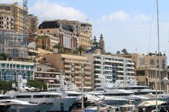 Monaco city and her luxury yachts Stock Photo