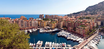 Monaco city and marina Stock Photography