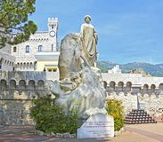 Monaco City, Monaco - June 13, 2014: Hommage des Colonies Etrangeres Statue. Near the Prince`s Palace, Tribute to the Foreign Colonies stock images