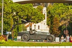 Juan Manuel Fangio Memorial in Monaco stock photos