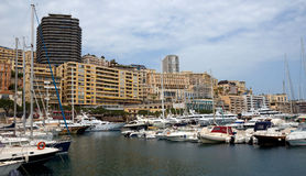 Monaco - Cityscape and harbor Hercules Royalty Free Stock Images