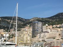 Monaco, view of Port Hercule royalty free stock photo