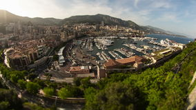 Monaco cityscape stock video footage