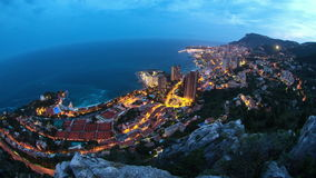 Monaco Cityscape Time Lapse stock video footage