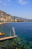 Monaco coastline Royalty Free Stock Images