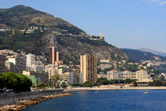 Monaco coastline Royalty Free Stock Photography