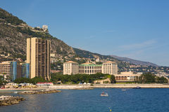 Monaco coastline. Coastline of Monte Carlo, Monaco Stock Photos