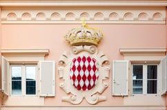 Monaco coat of arms. Coat of arms of Monaco Stock Images