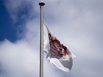 Monaco Coat of arms flag stock photography