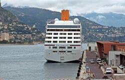 Monaco - Cruise Ship. MONTE CARLO, MONACO - APRIL 28: Cruise ship the Columbus-2 docked in Monte Carlo on the Mediterranean Sea on April 28, 2013 in Monte Carlo stock images