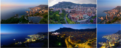 Monaco day and night Royalty Free Stock Photos