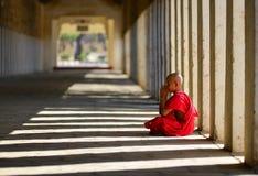 Monaco del principiante in Bagan, Myanmar fotografie stock