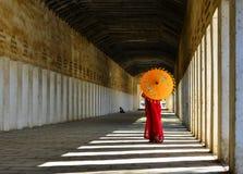 Monaco del principiante in Bagan, Myanmar fotografia stock