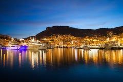 Monaco in der Dämmerung Stockbilder