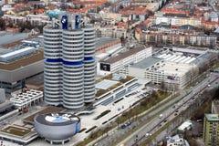 Monaco di Baviera con il museo di BMW Fotografia Stock Libera da Diritti