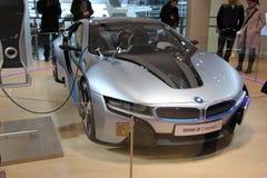 Automobile elettrica di concetto di BMW i8 Fotografie Stock