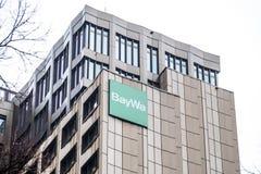 Monaco di Baviera, Germania - 16 febbraio 2018: BayWa AG è un gruppo di servizi e di commercio dei tre segmenti di funzionamento Fotografia Stock