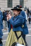 MONACO DI BAVIERA, BAVIERA, GERMANIA - 11 MARZO 2018: Chiuda su sulla donna pl Fotografie Stock