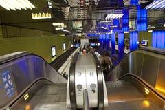 Monaco di Baviera, stazione della metropolitana di Muenchner Freiheit Fotografia Stock Libera da Diritti