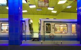 Monaco di Baviera, stazione della metropolitana di Muenchner Freiheit Immagini Stock Libere da Diritti