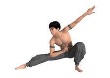 monaco di combattimento della rappresentazione 3D su bianco Immagini Stock