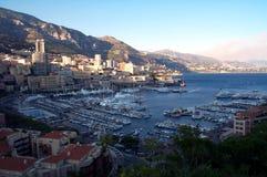 Monaco-Docks von oben Stockfoto