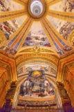 Monaco Dome San Francisco el Grande Royal Basilica Madr dell'affresco di Dio Immagini Stock Libere da Diritti