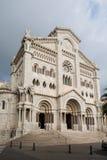 Monaco domkyrka Cathedrale de Monaco i Monaco Royaltyfria Bilder