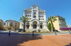 Monaco domkyrka i Monaco-staden, furstendöme av Monaco Royaltyfri Fotografi